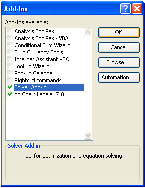 solver trong excel 2003